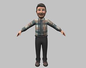 Cartoon Man 3D model PBR