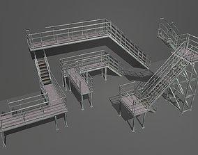3D asset Industrial Stairs Modular