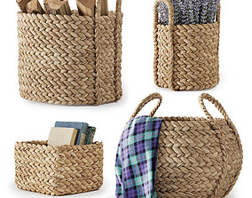3D model Pottery Barn Beachcomber Baskets 01