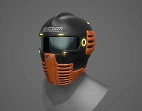 Futuristic Sci-Fi Motorcycle Helmet 3D asset