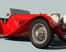 3D model Jaguar ss 100