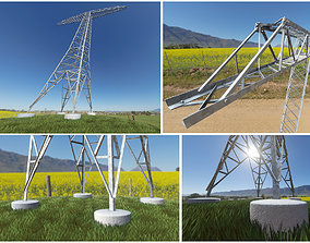 3D model Transmission Tower 22 Meter