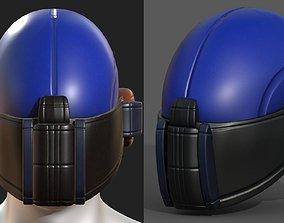 realtime Helmet scifi military combat 3d model