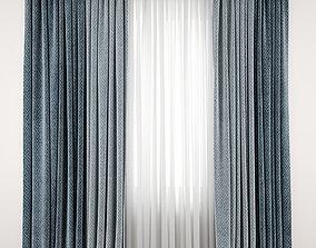 Curtain 92 herringbone 3D model