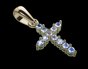 Small Diamond Cross With Bell 3D print model