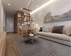 Apartment 2 Bedroom Design Scene 3D animated