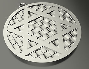 Model 58 David Star Necklace Embossed Texture Dissimilar