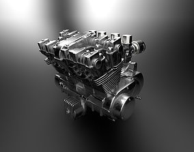 Four Cylinder Bike Engine honda 3D print model