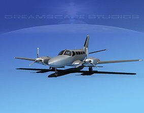 3D model Cessna 404 Titan Bare Metal