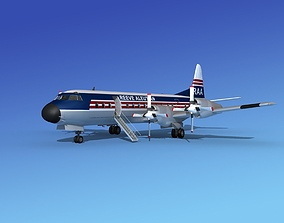 L-188 Electra Reeve Aleutian Airways 3D