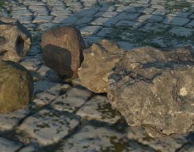 3D stone Rock set