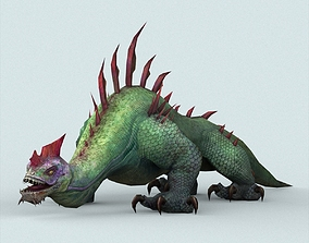 Fantasy Monster Lizard 3D asset