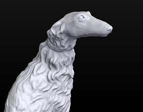 Sculpture Russian wolfhound Borzoi 3D printable model