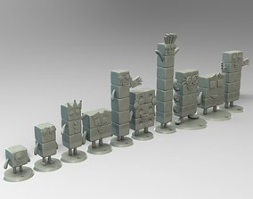 3D printable model Numberblocks