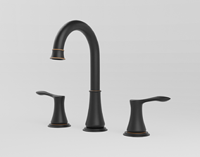3D Double handed bathroom faucet