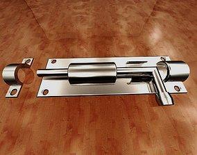 interior door lock-slide barrel bolt 3D print model