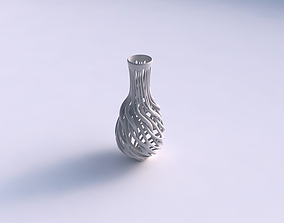 Vase with twisted branches wide middle 3D print model
