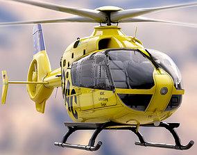 3D model Eurocopter EC 135 Emergency Helicopter