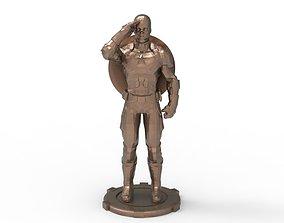 3D printable model Captain America greetings respectful 1