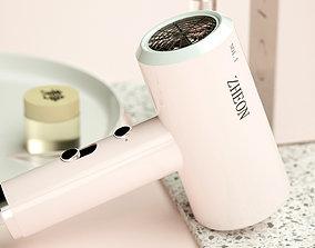 3D Model of electric hair dryer
