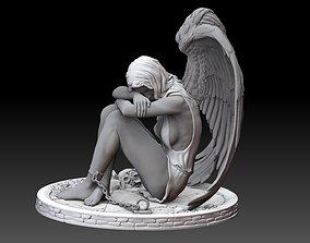 beautiful Enslaved Fallen Angel 3d model