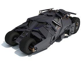 3D Black Batmobile