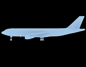 Not textured Airbus A300 3D model