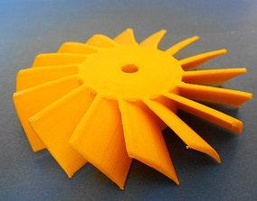 3D printable model Axial turbine wheel