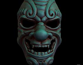 3D model japanese stylized mask Pbr textured