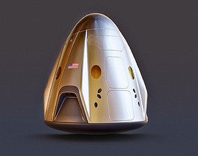 3D model Rocket - SpaceX Crew Dragon 2