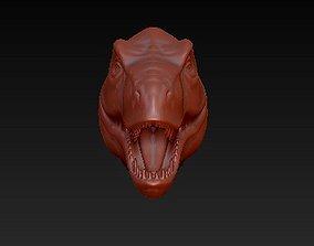 3D printable model dinosaur head