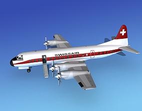 Lockheed L188 Electra HP Swissair 3D model