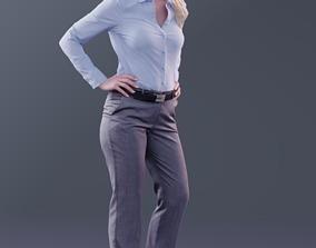 10172 - Standing Business Woman 3D asset VR / AR ready