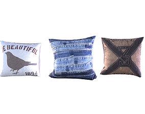 Three Pillows 3D model