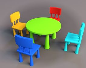 3D model Kids Table n Chairs