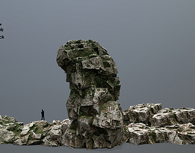 3D model realtime rocks cliff