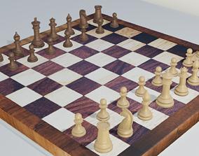 Chess- Wooden Texture 3D asset