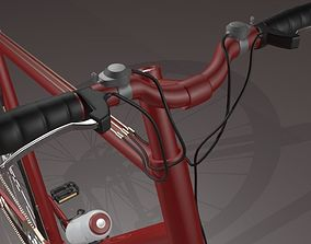 Red Bicycle 3D model highdetailedbike