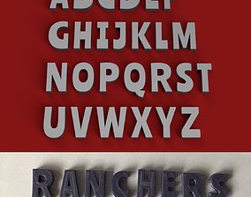 RANCHERS uppercase and lowercase 3D Letters STL FILE