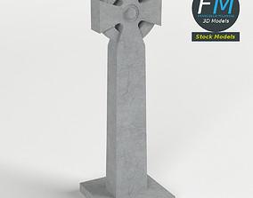 Celtic cross gravestone 3D