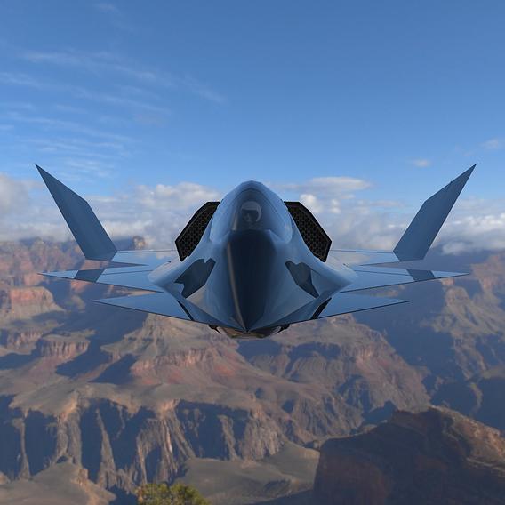 YF-23 Phantom in the Sky