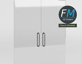 Frameless glass door 3D model