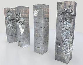 3D model Damaged Columns 1