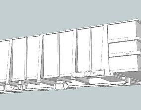 3D print model G1 Phosphate Gondola HO Scale Freight Car