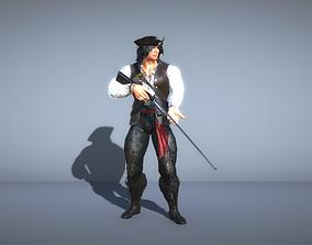 3D Pirate with gun