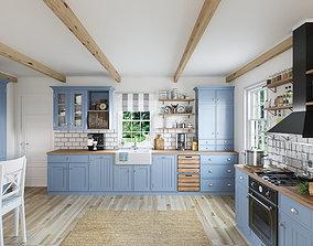 3D asset Kitchen interior - Shaker