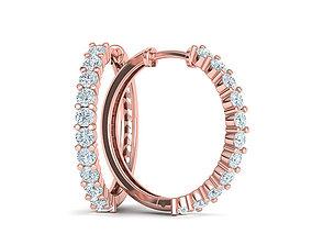round-earrings Diamond Hoop Earrings 3dmodel printable