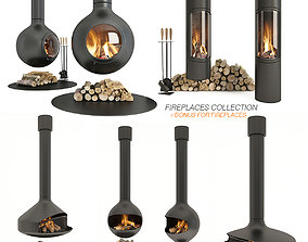 3D model Collection Fireplace