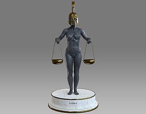Zodiac Sign Female Libra 3D asset
