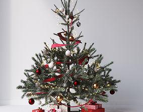 3D model Christmas tree set 1